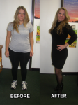Jennifer after 25 lbs lighter. I never lost weight on other programs